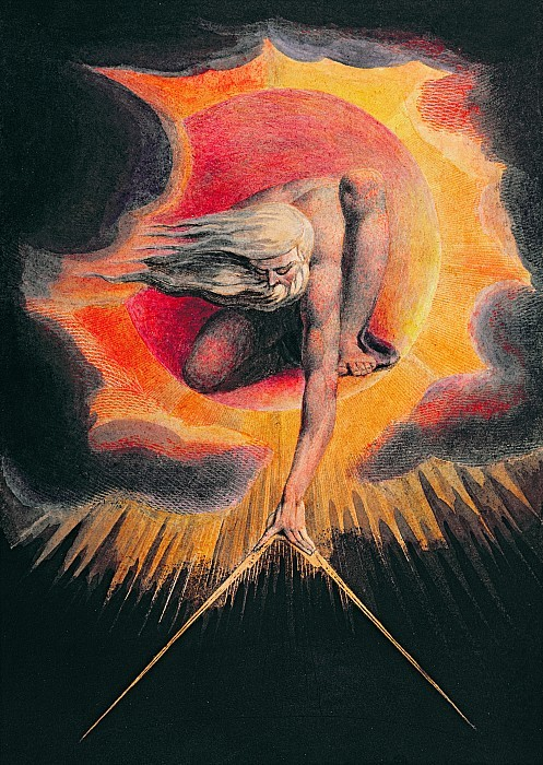 "William Blake, God Calibrates Chaos During Creation in ""The Ancient of Days"""