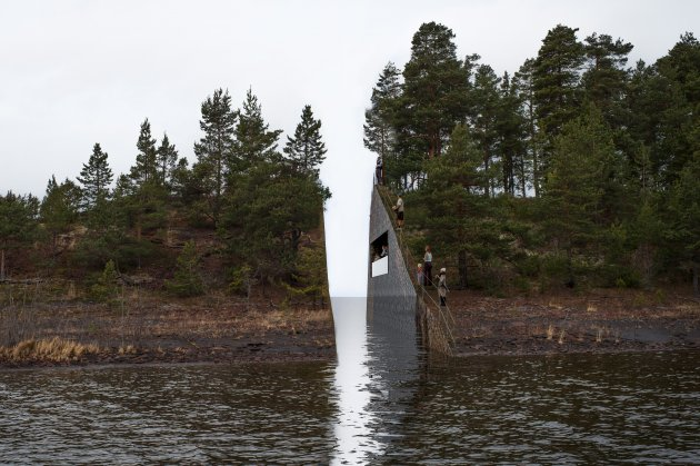 Views of proposed Memorial Sørbråten in Norway, to honor victims of 2011 Massacre/Jonas Dahlberg